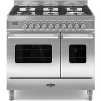 900mm Twin Dual Fuel Range Cooker Gas Hob S/St