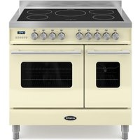 900mm Twin Electric Range Cooker Induction Hob Cream