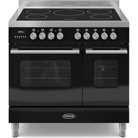900mm Twin Electric Range Cooker Induction Hob Black