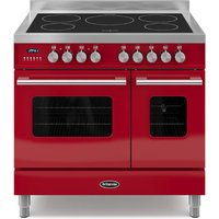 900mm Twin Electric Range Cooker Induction Hob Red