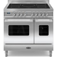900mm Twin Electric Range Cooker Induction Hob S/St