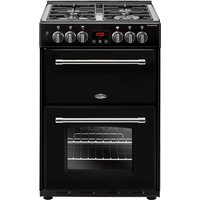 600mm Double Dual Fuel Cooker Gas Hob Black