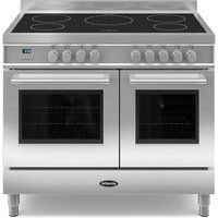 1000mm Twin Electric Range Cooker Induction Hob S/S