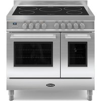 900mm Twin Electric Range Cooker Induction Hob S/S