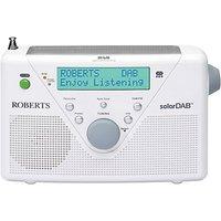 Roberts Solar Powered DAB Digital Radio White