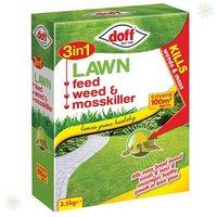 3 in 1 Lawn Feed, Weed & Mosskiller 3.5Kg 100m2 pack