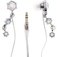Silver Iridescent Glam Earphones - Earphones Gifts