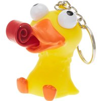 Rubber Duck with Popping Tongue Keychain - Duck Gifts