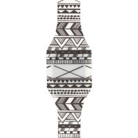 black and white aztec print digital blink watch