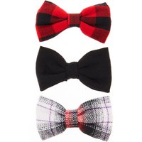 Red & Black Plaid Bows - Bows Gifts
