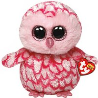TY Beanie Boos Small Pinky the Owl Soft Toy - Ty Beanie Boos Gifts