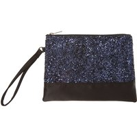 Navy & Black Sparkly Wristlet Clutch Bag - Sparkly Gifts