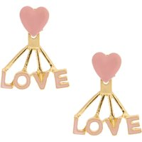 Sensitive Solutions Pink & Gold Love Ear Jackets - Jackets Gifts