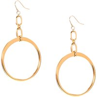 Gold-Tone Open Circle Drop Earrings - Quality Gifts
