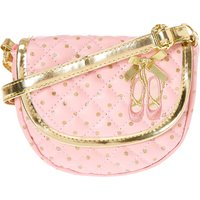 Pink and Gold Ballet Shoes Snap Closure Bag - Ballet Gifts
