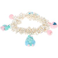 Kids Glittery Blue Owl and Bows Charm Bracelet - Bows Gifts
