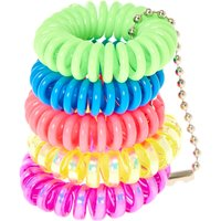 Mini Neon Coil Hair Ties - Claires Gifts