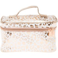 Rose Gold Leopard Print Cosmetic Train Case - Leopard Print Gifts