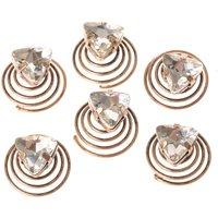 Cubic Zirconia Triangle Gold Hair Jewel Set - Jewel Gifts