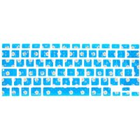 Cheerful Blue Daisy Flowers Keyboard Cover - Keyboard Gifts