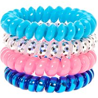 Hot Pink & Blue Coiled Hair Ties - Katy Perry Gifts