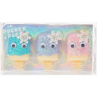 Pucker Pop Glittery Snowflake Flavoured Lipgloss Trio - Lipgloss Gifts