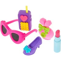 Girly Erasers 5 Pack - Girly Gifts