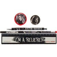 Black & White Justin Bieber Stationery Set - Stationery Gifts