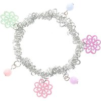 Kids Flowers and Beads Bracelet - Flowers Gifts