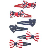 Kids 6 Pack Hearts & Bows Snap Clips - Bows Gifts