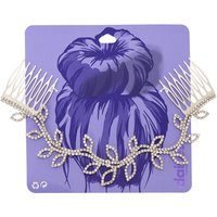 Silver-tone and Faux Crystal Vine Hair Swag - Cartoon Gifts