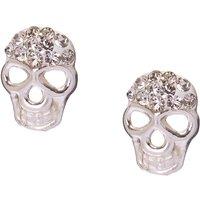 925 Sterling Silver Crystal Skull Stud Earrings - Skull Gifts