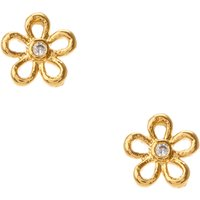 Cubic Zirconia 18kt Gold Plated Daisy Stud Earrings - Hello Kitty Gifts