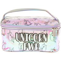 UNICORN PWR Holographic Cosmetics Bag with Handle - The Vamps Gifts