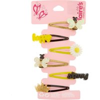 Kids 6 Pack Bee Happy Snap Hair Clips - Bee Gifts