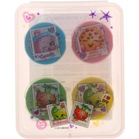 Shopkins Pack of 4 Stationery Rubbers Set - Stationery Gifts