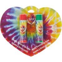 Pack of 2 Cherry Best Friend Rainbow Tie Dye Lip Balms - Best Friend Gifts
