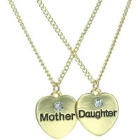 Mother and Daughter Gold Heart Necklaces - Daughter Gifts