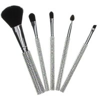 Silver Bling Make-Up Brush Set - Bling Gifts