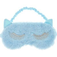 Pastel Blue Cat Ear Sleep Mask - Claires Gifts