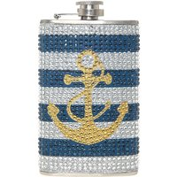 Anchor Bling Drinking Flask - Bling Gifts