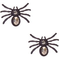 Black Crystal Spider Stud Earrings - Spider Gifts