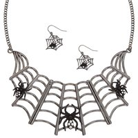 Spider Web Jewellery Set - Spider Gifts