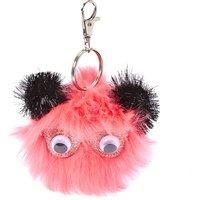 Pink Pom Pom Critter Key Ring - Key Ring Gifts
