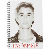 A5 Justin Bieber Love Yourself Notebook - Justin Bieber Gifts