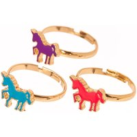 3 Pack Best Friend Unicorn Rings - Best Friend Gifts
