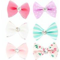 6 Pack Mini Pastel Hair Bows - Bows Gifts