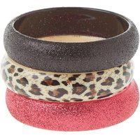 Kids Leopard Print and Glitter Bangle Bracelets - Leopard Print Gifts