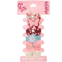 6 Pack Mini Clip-on Hair Bows - Bows Gifts