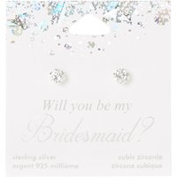 Sterling Silver Will You Be My Bridesmaid Stud Earrings - Bridesmaid Gifts
